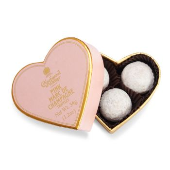 Charbonnel et Walker Pink Marc de Champagne Chocolate Truffles – Mini Heart 34g