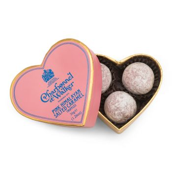 Charbonnel et Walker Pink Himalayan Salted Caramel Chocolate Truffles – Mini Heart 36g