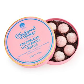 Charbonnel et Walker Pink Himalayan Salted Caramel Chocolate Truffles 120g