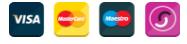 Visa, Mastercard, Maestro and Solo